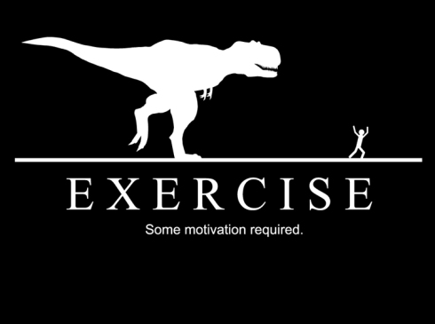 I am so not a runner. Unless a dinosaur is chasing me. And even then, I'll probably get eaten.