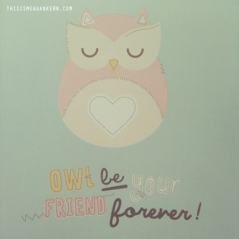 Owl Be Your Friend Forever