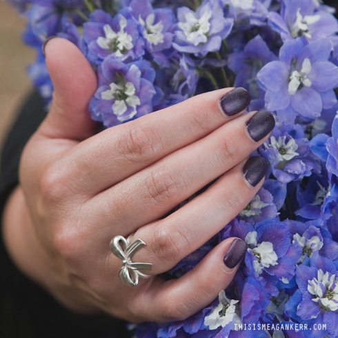 Nails by Jess at Monaco Nails & Beauty, Bow Ring by Luke Adore Jewellery