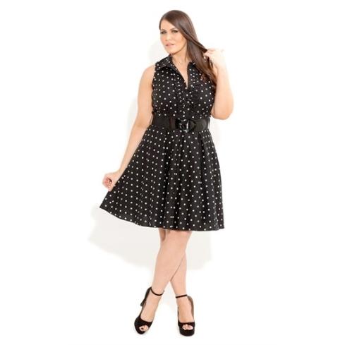 Spotty Dotty Dress, $139.99 from City Chic