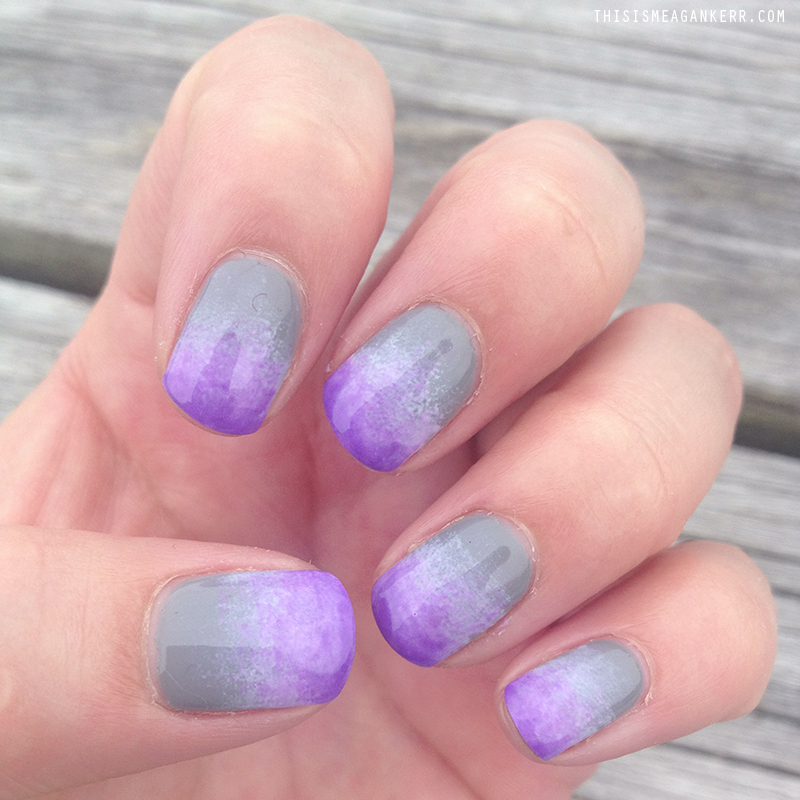 Nailed It! Purple Grey Ombre - This is Meagan Kerr
